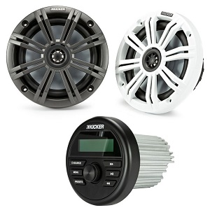 Kicker Audio KMC2 boat speaker package