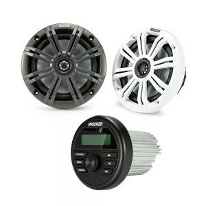 "Kicker Audio KMC2 with 6.5"" Coaxial Speakers Bundle"