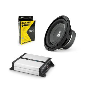 """JL Audio 8"""" Subwoofer, Amplifier & Wiring Kit Bundle"""