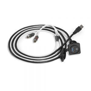 JLM-XMD-USB/3.5MM-PNL JL Audio 3.5mm Audio Jack and USB Port for Panel-Mounting Main Image