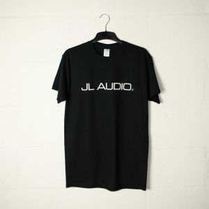 JLTEE-B-L JL Audio Black T-shirt with White Logos - Large Main Image