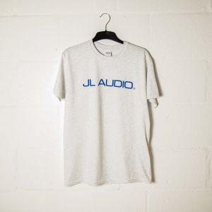 JLTEE-C-L JL Audio Grey T-shirt with Blue Logos - Large Main Image