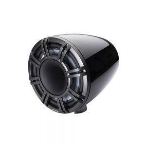"KM Marine 11"" (280 mm) Surface Horn Speaker System - Black LED Grills"