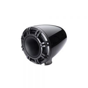 "KM Marine 9"" (230 mm) Surface Horn Speaker System - Black LED Grills"