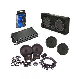 "KICKER Audio Amplified Speaker & 8"" Subwoofer Bundle"