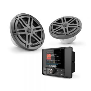 "JL Audio MM50 with 6.5"" Gunmetal Coaxial Speakers Bundle"