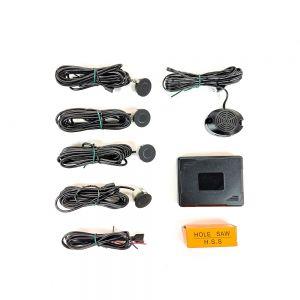 PS5700 Parking Sensors Rear 4 Eye With Buzzer - Black Matt Main Image