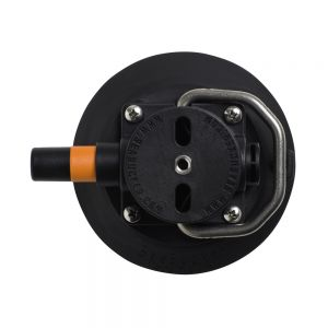 "SSR-VM1013B SeaSucker - 4.5"" Vacuum Mount w/ Stainless Steel D-Ring - Black Main Image"
