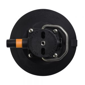 "SSR-VM1014B SeaSucker - 6"" Vacuum Mount w/ Stainless Steel D-Ring - Black Main Image"